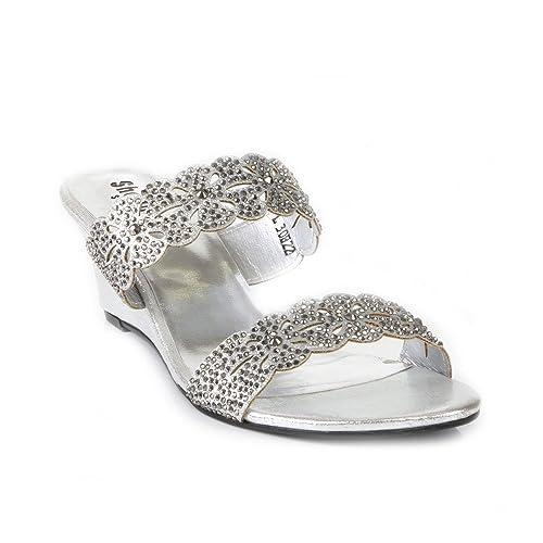 27216, Mules Femme, Blanc (White/Silver), 40 EUJana