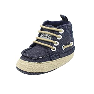Alonea Infant Toddler Baby Boy Girl Soft Sole Snow Boots Crib Shoes Boots (13, Dark Blue)