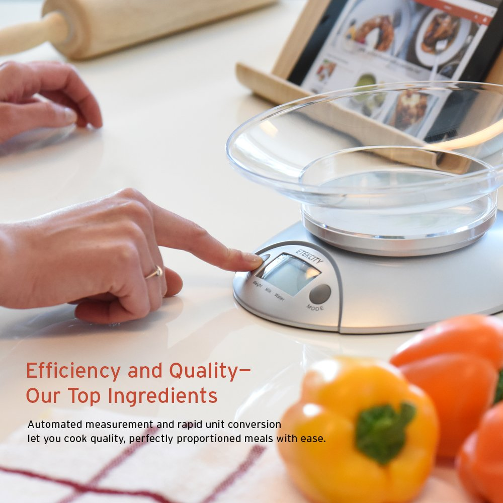 Etekcity Digital Kitchen Food Scale and Multifunction Weight Scale with Removable Bowl, 11 lb 5kg by Etekcity (Image #7)