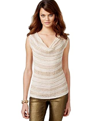 c04d3cf997920 Image Unavailable. Image not available for. Color  INC International  Concepts Sleeveless Sequin Cowl-Neck ...