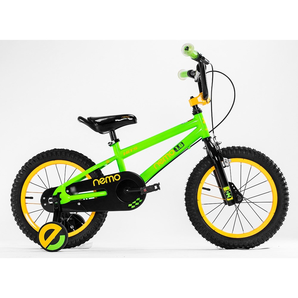 ZHIRONG 子供用自転車 トレーニングホイール付きの少年の自転車と少女の自転車 12インチ、14インチ、16インチ、18インチ アウトドアアウト ( 色 : 緑 , サイズ さいず : 16 inch ) B07CRL8NV1 16 inch|緑 緑 16 inch