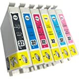 """IC32(BK/C/M/Y/LC/LM)-6色セット 【ヒマワリ】 エプソン用互換 インクカートリッジ 残量表示付き APEX製の最新ICチップを採用  【互印製】 ISO14001、ISO9001及び国際品質規格""""STMC""""認証工場製造品"""