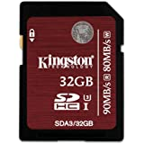 Kingston Carte SDA3/32 GB SDHC/SDXC UHS-I U3, 32 GB Vitesses 90R/80W