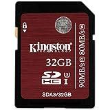 Kingston SDA3/32GB - Tarjeta de memoria SecureDigital de 32 GB, negro