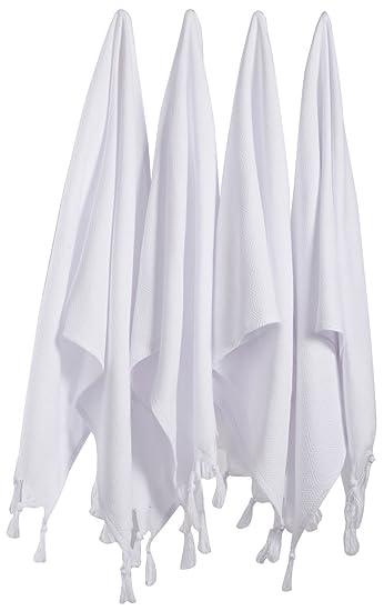 Amazon.com: BOSPHORUS LaModaHome - Juego de 4 toallas de ...