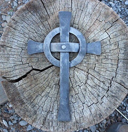 Celtic Cross, hand forged from Iron