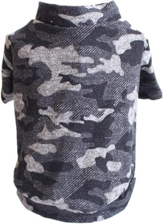 AMURAO Camisa del Perro del Animal doméstico del Verano Camuflaje Ropa para Perros Chaleco Suéter Mezcla de algodón Cachorros Blusas Perros Suaves Disfraces: Amazon.es: Productos para mascotas