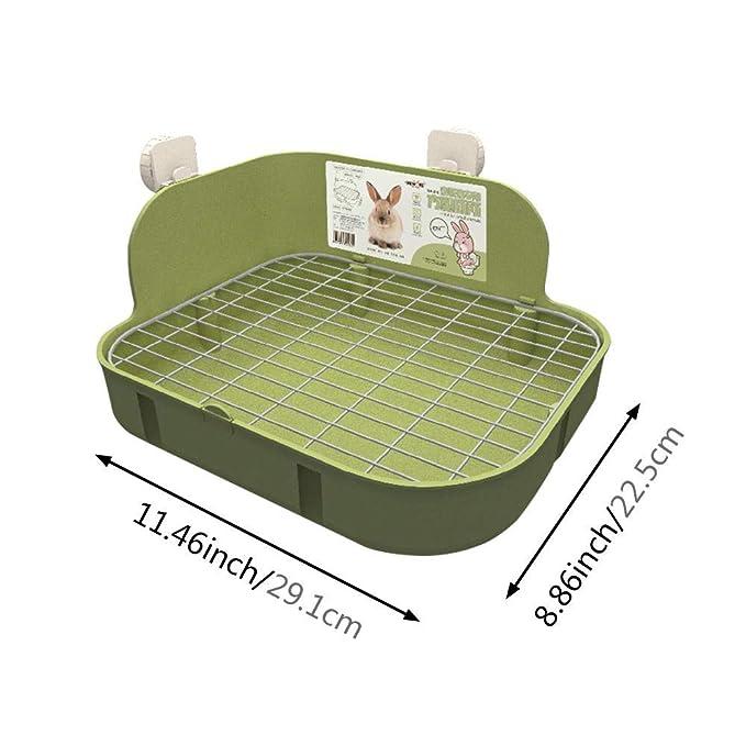 KOBWA - Inodoro para Mascotas, para Esquina de Inodoro, para Conejos, Chinchilla, cobayas, Hurones, galesaur etc.: Amazon.es: Productos para mascotas