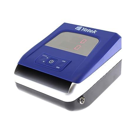 Detector de billetes falsos de Euro Yatek SE-0709, 5 métodos de detección, actualizable, cable de actualización incluido, cuenta y suma el importe de los ...