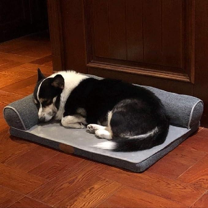 Cama perro Grande para Perros, Camas duraderas indestructibles y Lavables para Perritos de Perritos para Perros pequeños/Perritos, Gris (Tamaño : 120×89cm): ...