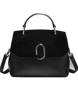 CHAOYANG-Femme sac à bandoulière minimaliste grand sac à main matte femelle haute capacité sac à main en cuir de vachette , black