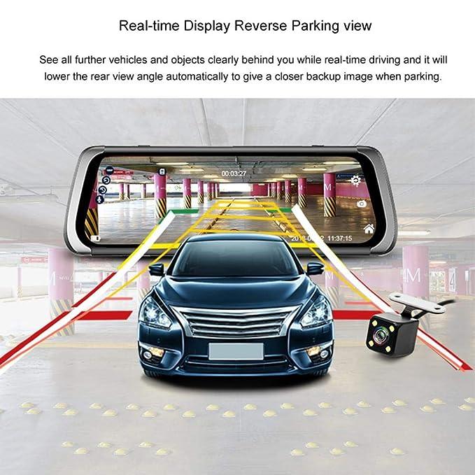 JUNSUN A910 9.35 inch Android Car Rearview Mirror DVR GPS WiFi G-Sensor Dash Cam