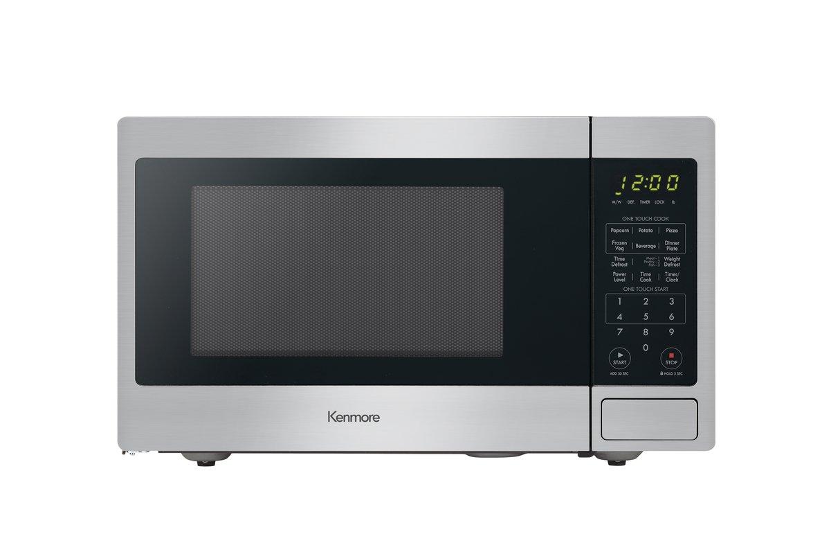 Kenmore Stainless Steel 70913 Countertop Microwave, 0.9 cu. ft by Kenmore