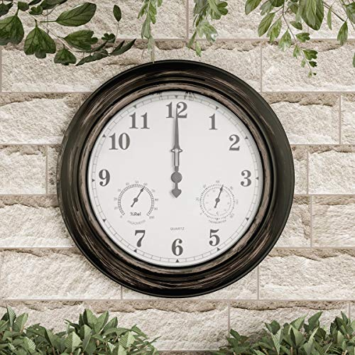 Pure Garden Wall Thermometer-Indoor Outdoor Decorative 18