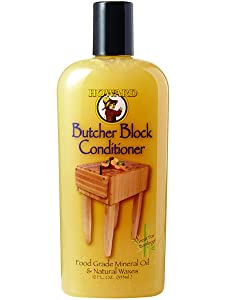 Howard BBC012 Butcher Block Conditioner, 12-Ounce