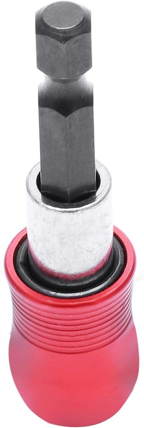 RETYLY Nouveau 1//4 pouce Hex Tige magnetique Porte-embout barre dextension pour perceuse electrique tournevis Longueur 60mm