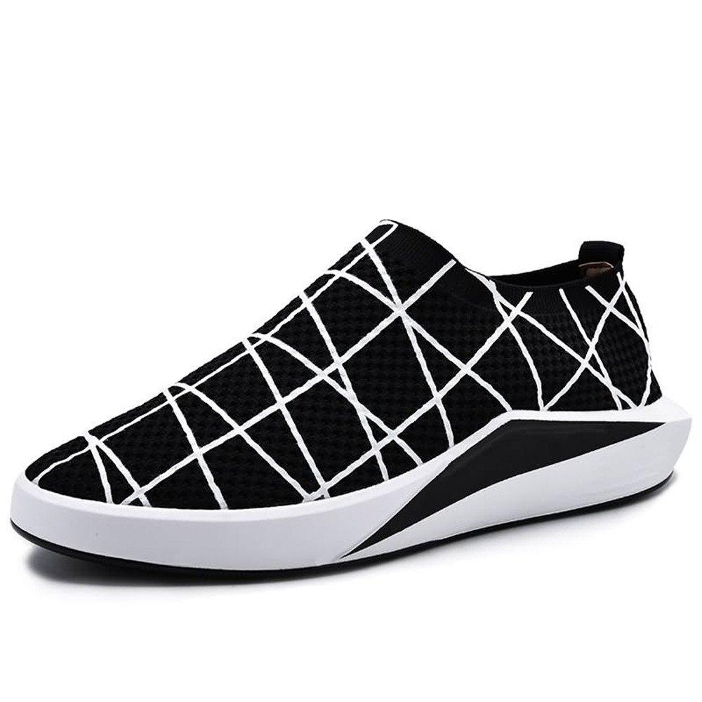 Sunny&Baby Zapatos Casuales de Color Sólido de Tacón Plano atlético de los Hombres Anti Desgaste (Color : Balck, Tamaño : 42 EU) 42 EU|Balck