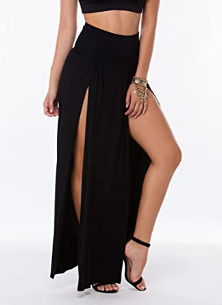 a2b50a1f18 Double Slit Maxi Skirt at Amazon Women's Clothing store: