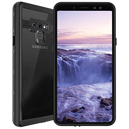 promo code ac1e8 53a25 ShellBox Waterproof Case for Samsung Galaxy Note 9, Shockproof Snowproof  Cover IP68 Underwater Full Body Protection Crystal Clear Built-in Screen ...