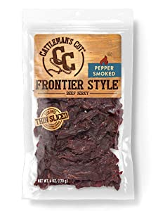 Cattleman's Cut Pepper Smoked Frontier Style Beef Jerky, 6 Ounce