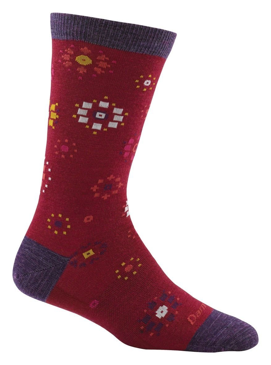 Darn Tough Burst Crew Socks - Women's Cranberry Large