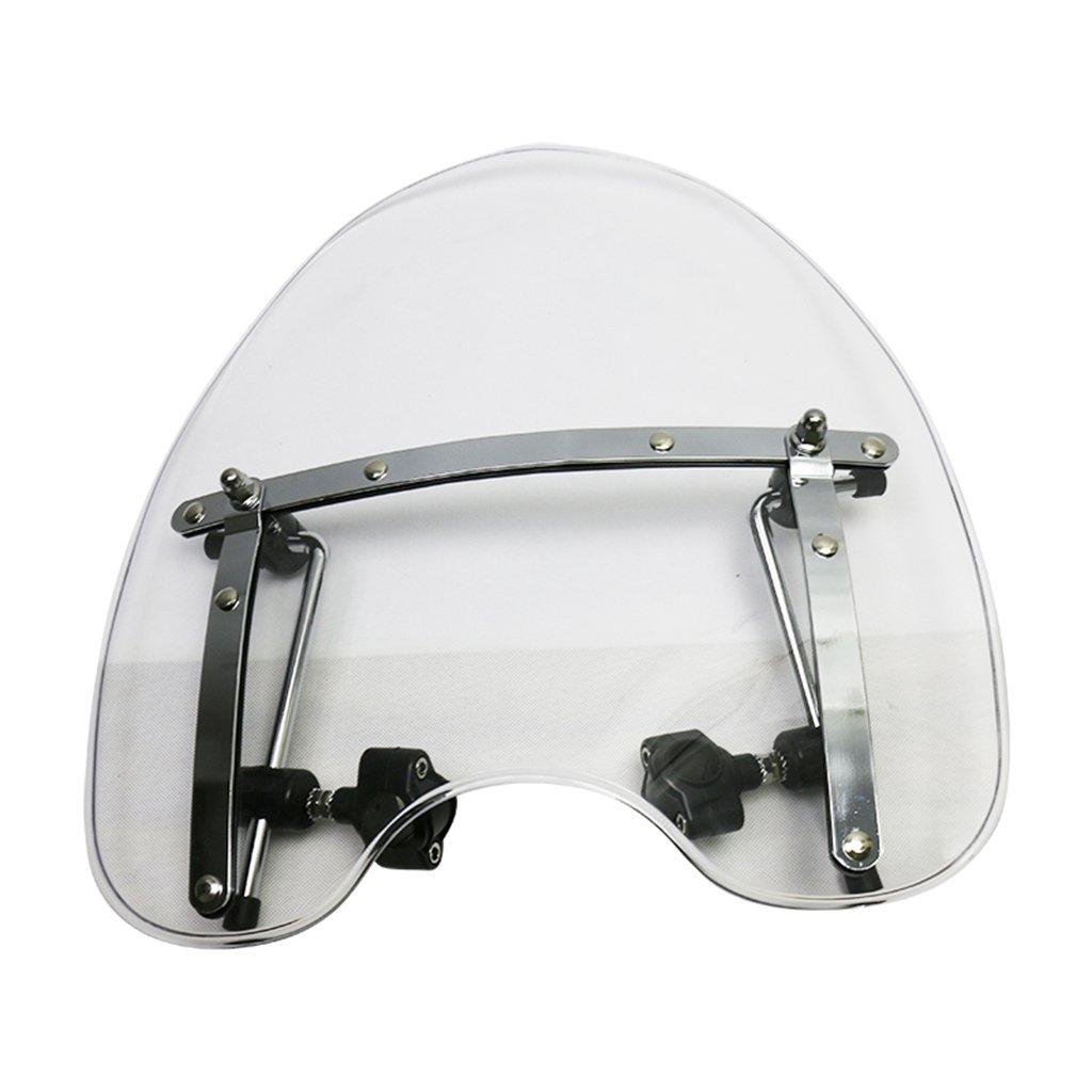 Universal 18x16 Windshield Windscreen For Honda Kawasaki Davidson Suzuki Yamaha Harley (Clear)