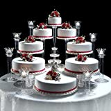Efavormart Lovely 8 Tier Acrylic Crystal Glass Clear Cake Dessert Decorating Stand For Birthday Xmas Party Wedding