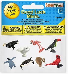 Safari Ltd. Good Luck Minis Collection - Birds Fun Pack 8 Pieces - Non-toxic and BPA Free