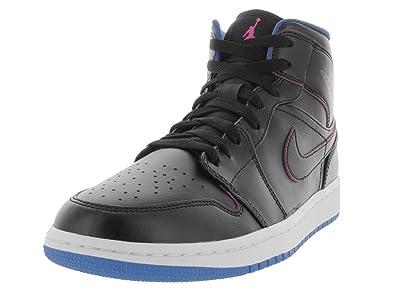 buy popular f347f 7cddf Nike Herren Air Jordan 1 MID Sportschuhe, Negro Rosa Azul (Black