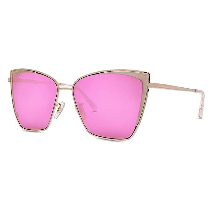 a1c895ffd0895 Diff Eyewear Becky Sunglasses Pink (Rose Gold Pink)  Amazon.ca ...