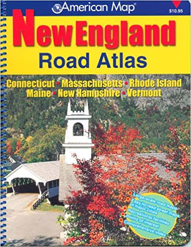 American Map New England Road Atlas: Connecticut ... on saco maine, waterville maine, york maine, calais maine, old orchard beach maine, lewiston maine, fort kent maine, google maps maine, moosehead lake maine, madawaska maine, cities in maine, chelsea maine, old town maine, blue hill maine, skowhegan maine, caribou maine, detailed map maine, lowell maine, ellsworth maine, airports in maine,