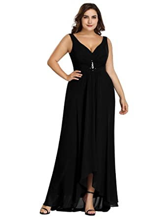 Ever-Pretty Womens A Line Floor Length Sleeveless Plus Size ...