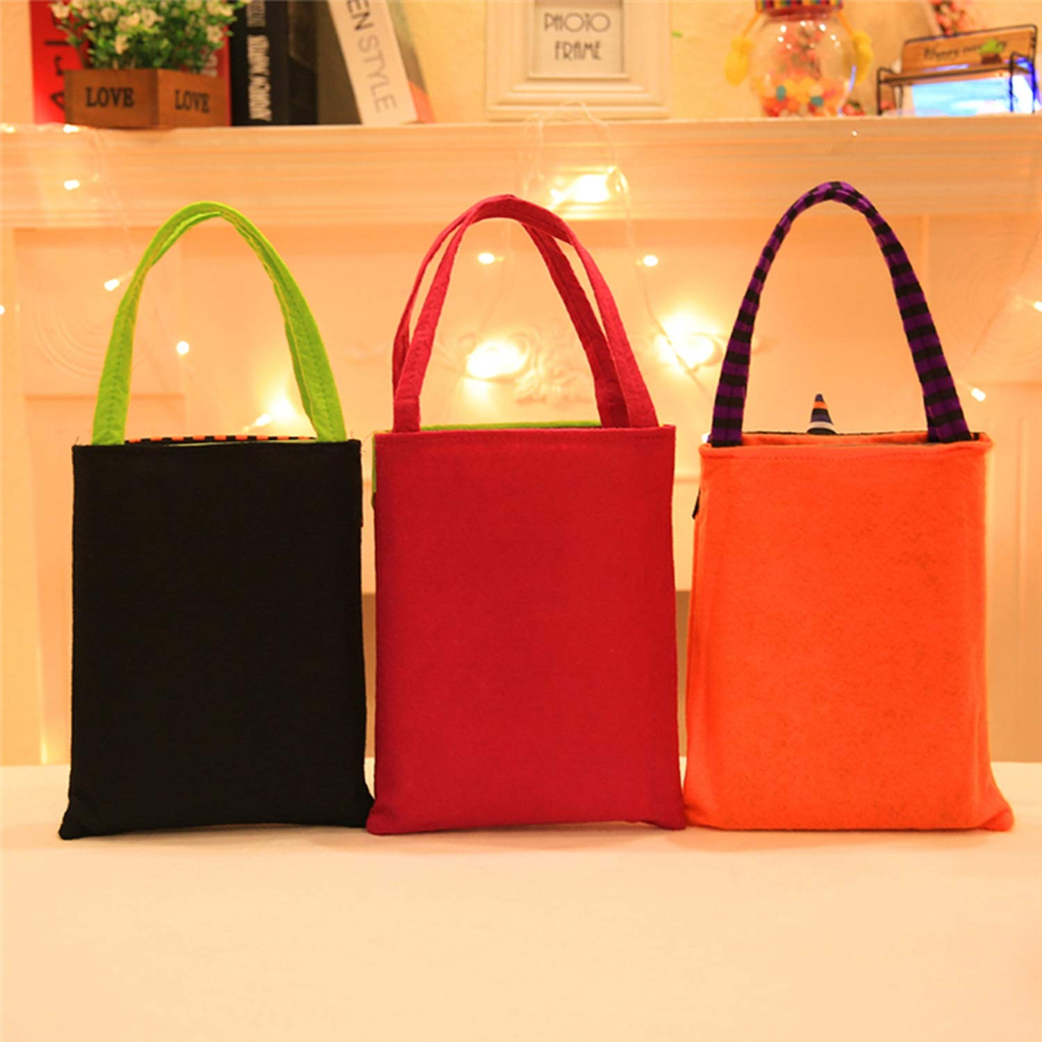 Halloween Candy Bag Gift Bags Pumpkin Trick Or Treat Bags Sacks Gift for Kids Event Party,D by Acereima (Image #4)