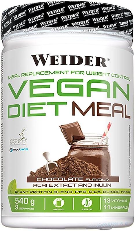 Weider Vegan Vegan Diet Meal - 540 gr Chocolate: Amazon.es ...