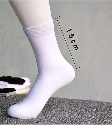 Calcetines para hombres 10 pares de calcetines de algodón for hombre Hombre Negro Blanco comerciales ocasionales respirables rayas aguja doble masculino calcetines largos Tamaño 44-48 calcetines para: Amazon.es: Hogar