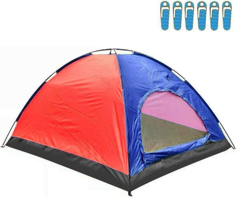 HYU Tienda de Campaña para 6 Personas Impermeable Acampar Camping Carpa Tipo iglu