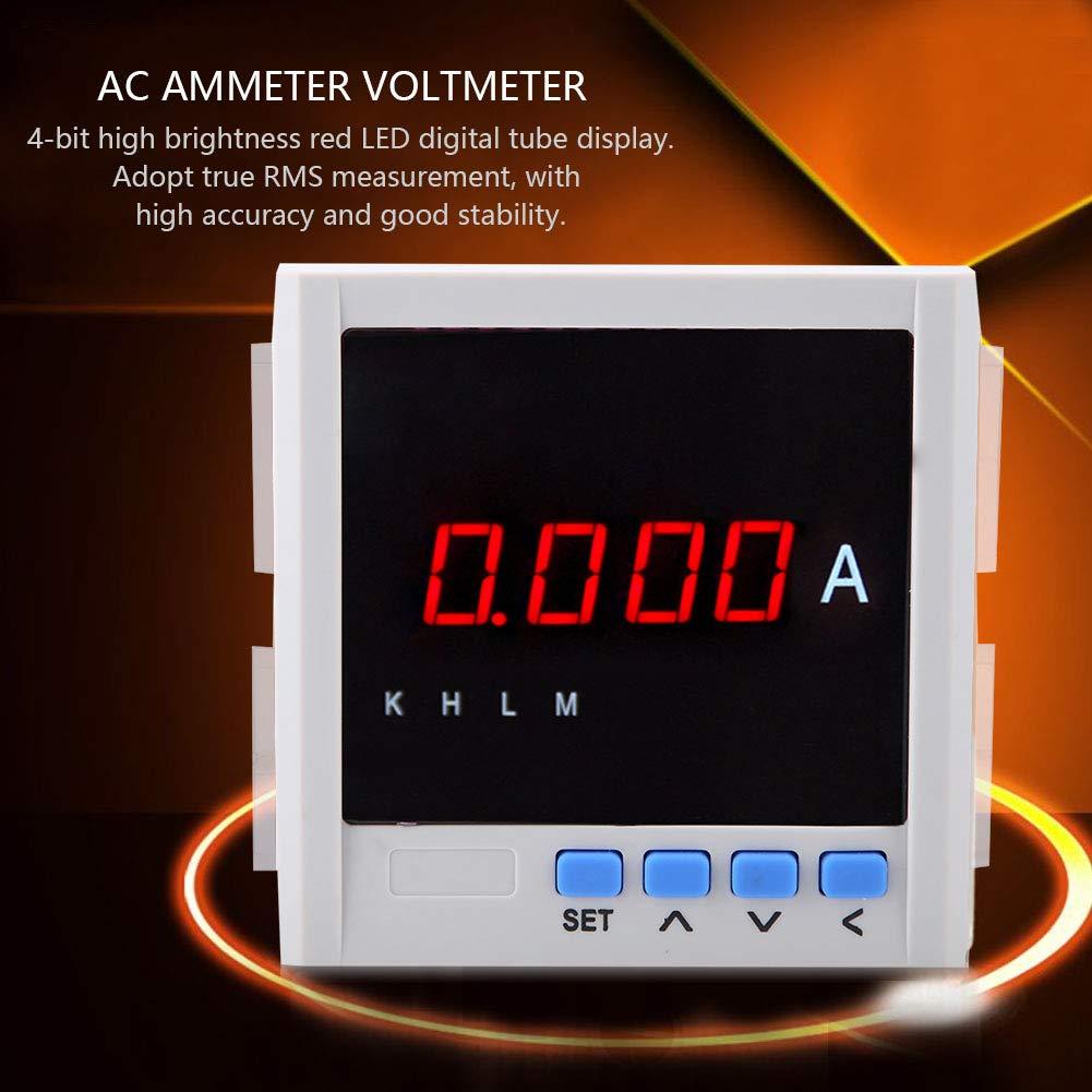 Digital LED Dreiphasen WechselstromAmperemeter RS-485 Schnittstelle Weiß