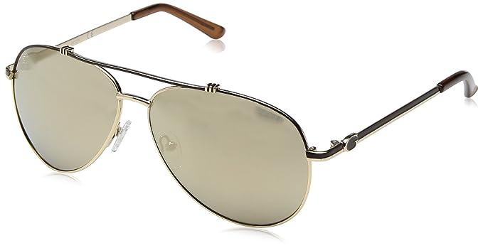 Guess GF6016_32G, Gafas de Sol para Mujer, Amarillo (Giallo/Nero), 60: Amazon.es: Ropa y accesorios