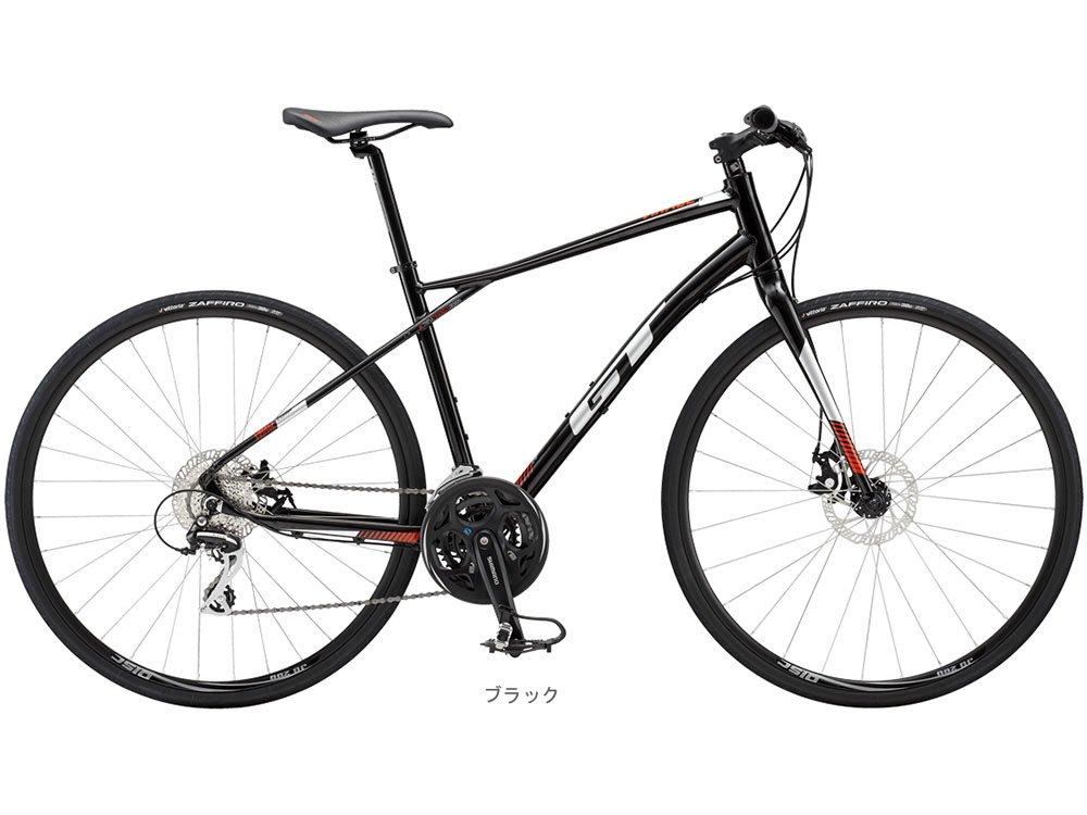 GT(ジ-ティー) 2018 ヴィラージュ COMP(3x8速)クロスバイク700C <ブラック L> 9188081 B00B705D2C