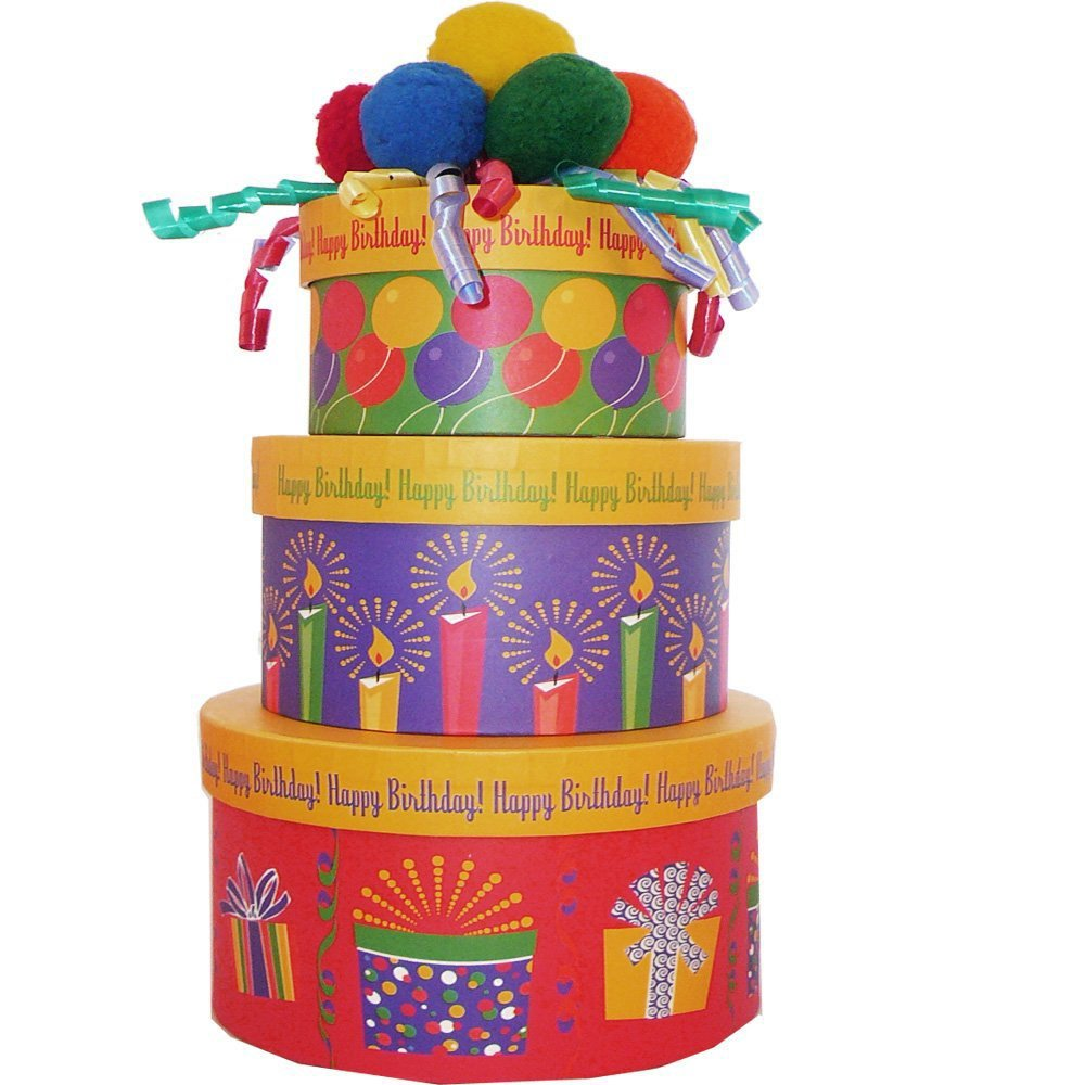 Amazon Happy Birthday To You Cake Shaped Gift Box Empty Box