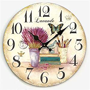 Y Hui Garden Wall Clock Living Room Decor Clock Bedroom Mute Wall Clock Wall Chart