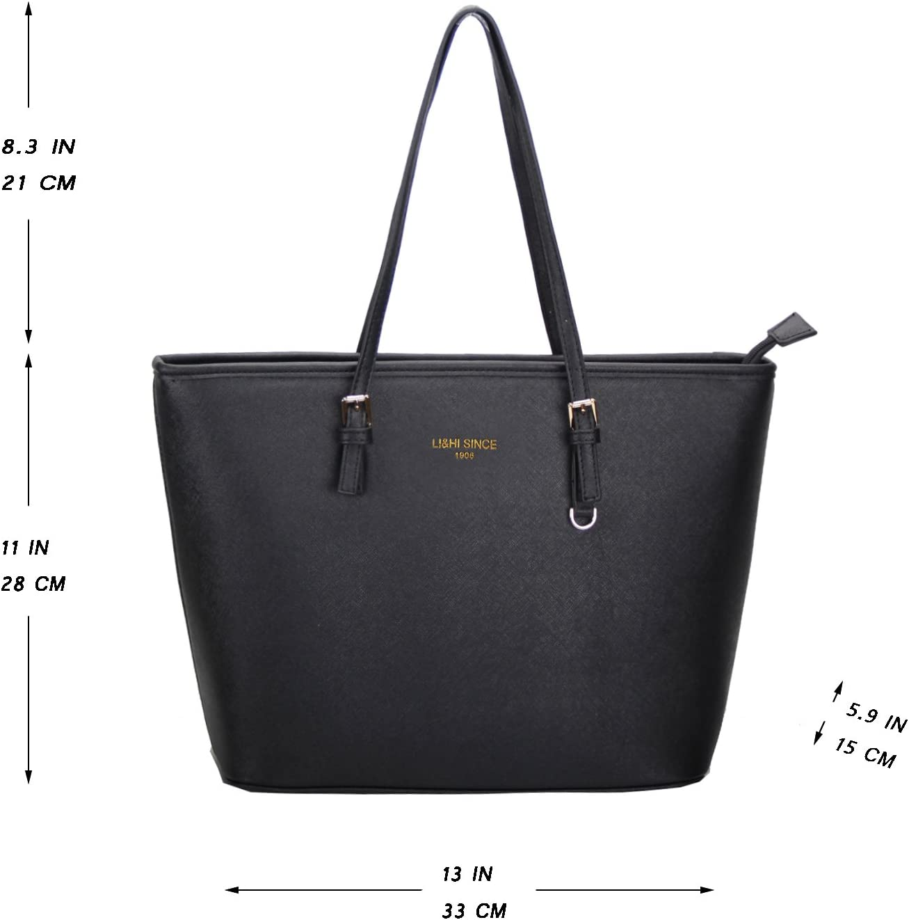 Sac a Main Femme Fanspack Sac /à Bandouli/ère Mode Fourre Tout Besace Femme Sac Cabas Noir