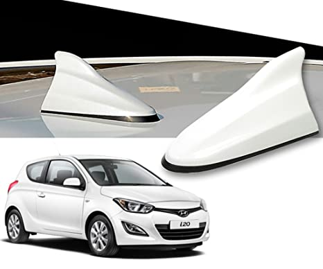 Auto Pearl White Shark Fin Replacement Signal Receiver Antenna For