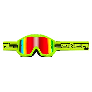 O'Neal B1 RL Goggle FLAT Neon Gelb Radium Brille Moto Cross Mountain Bike MX