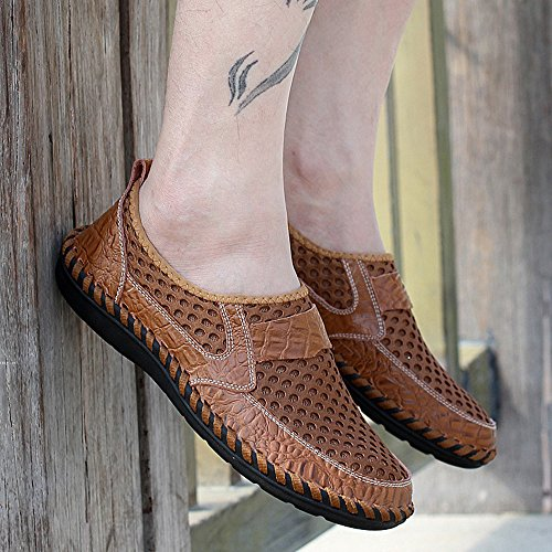 Zapatos Deslizan LIEBE721 los Casuales marrón se Hombres Los Sobre Moda los de Zapatos Cómodos de g544qSxa