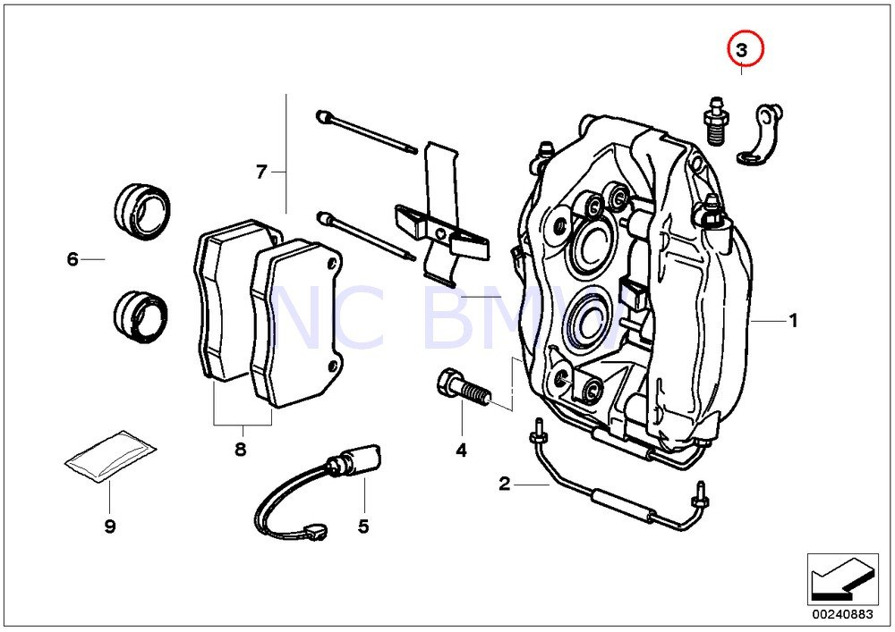 Amazon Com Genuine Bmw E31 E38 Front Wheel Brake Caliper Kit