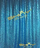 ShinyBeauty Light Blue-Sequin Backdrop-8FTX8FT Sequin Fabric Background Glitz Photography Curtain