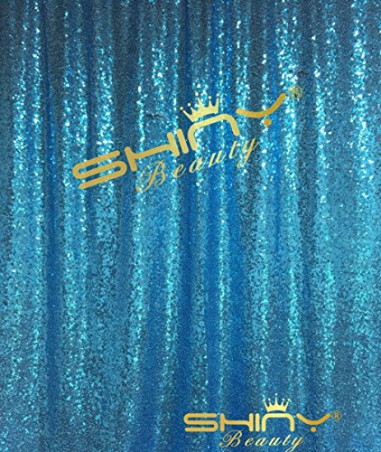 ShinyBeauty Light Blue-Sequin Backdrop-8FTX8FT Sequin Fabric Background Glitz Photography Curtain by ShinyBeauty