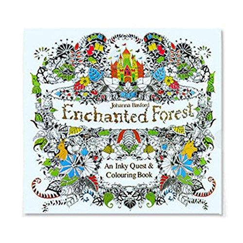 GOODCULLER Magic Forest Fun Adult Coloring Book Designs Stress Relief Coloring Book Mandalas Animals- Adult Coloring Book: Inspiration, Relaxation, Meditation, Zen - Giant Elmo Coloring Book