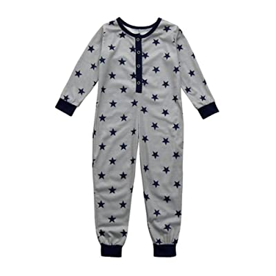 Winsummer Toddler Baby Kid Long Sleeve Star Rompers Jumpsuit Pyjamas